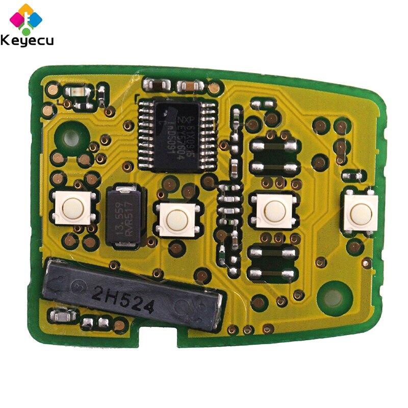KEYECU paire clé de voiture à distance de remplacement-2/3/3 + 1/4 boutons & 433 MHz & ID47 puce-FOB pour Honda Accord Civic Fit MLBHLIK6-1T - 5