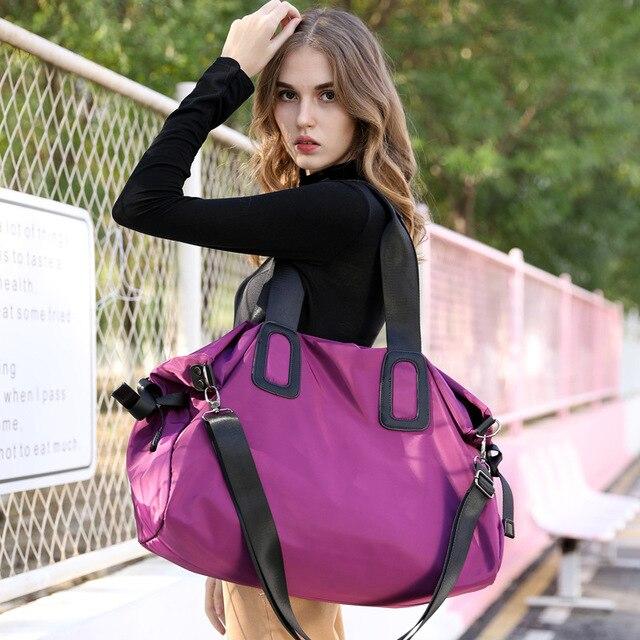 Yoga Mat Bag Gym Tas For Fitness Sac De Sport Woman Sports Bag Female Tote Shoulder Pack Training Nylon Bag Oxford Cloth Bag