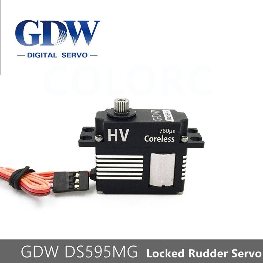 GDW DS595MG HV sans noyau métal acier engrenage moyen RC hélicoptère queue Servos Fit SAB 380 420 GAUI X3 aligner 450L 500 550
