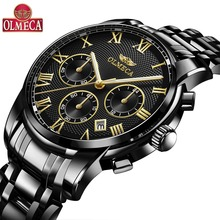 Men Watches Top Brand Luxury OLMECA Waterproof Quartz Wrist Watch Chronograph Relogio Masculino Waterproof Military Watches