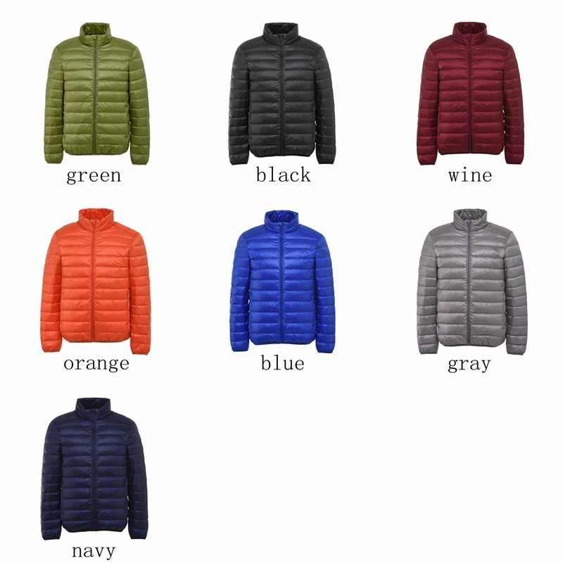 NewBang Брендовое пуховое пальто мужской ультра легкий пуховик мужской стоячий воротник зимняя ветровка теплая лёгкая куртка с капюшоном пуховик