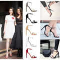 Summer women T-stage Classic Dancing High Heel Gladiator Sandals Women Sexy Stiletto/Party wedding shoes 5 color free shipping