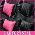 Ladycrystal High Quality PU Leather Car Pillow Neck Headrest Hold Pillow Auto Car Styling Seat Supports
