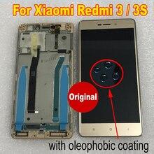 100% thử nghiệm Ban Đầu Cảm Biến Cho XIAOMI Hongmi Redmi 3 / 3S / 3 Pro Màn Hình LCD Hiển Thị Bảng Điều Khiển Cảm Ứng Màn Hình bộ số hóa có Khung