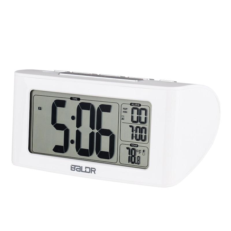 Image 4 - Baldr digital nap temporizador despertador ajuste rápido display  lcd de temperatura mesa relógios branco backlight termômetroclocktimer  ledclock motion
