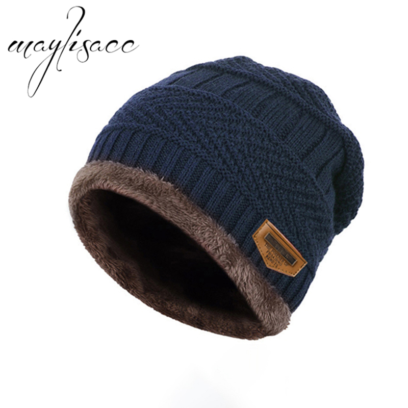 Maylisacc 2018 Hot Boys Winter Warm Kintted Hat Thicken Hedging Skullies Beanies Cap for 3-14 Yearts Old Boys Girls Student Hat
