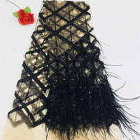 Nigerian Lace Fabrics For Wedding 2018 African Lace Fabric With Feather High Quality White Embroidery French Lace