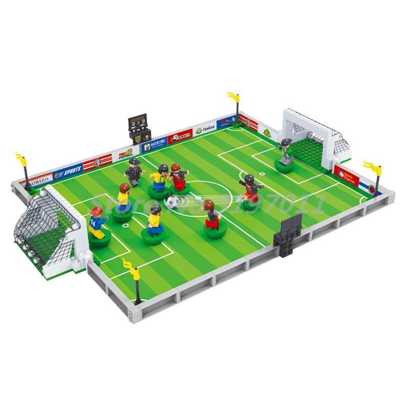 City Model Building Blocks Mini Football Soccer Field 200 3D Bricks 25590 Educational Toys For Children Gifts