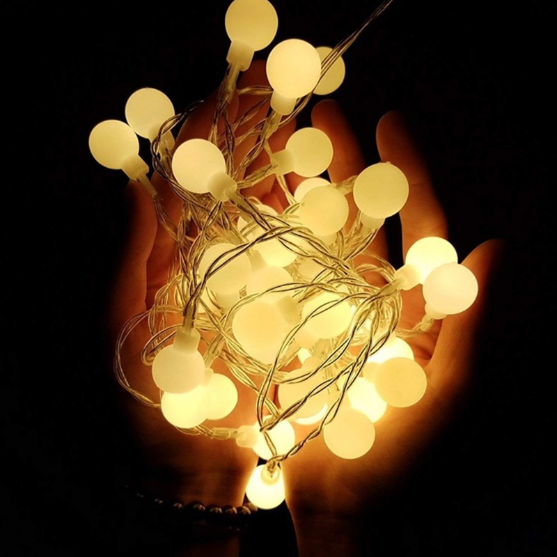 1.2M 3M 6M 10M Cherry Balls Fairy String Decorative Lights Battery Operated Wedding Christmas Outdoor Patio Garland Decoration(China)