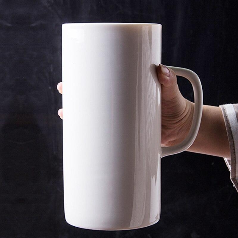 جديد وصول 1300 ml سوبر كبيرة مج مياه أكواب من السيراميك الحليب الإبداعية الأزياء القدح القهوة كوب ماء لطيف الإفطار كوب عيد الميلاد هدية-في أكواب من المنزل والحديقة على  مجموعة 1