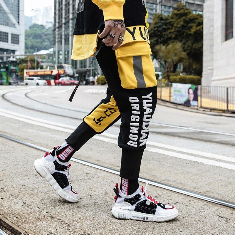 Europe et états-unis grande poche salopette lâche vêtements pour hommes pantalons étudiants street dance hip hop halon pantalon