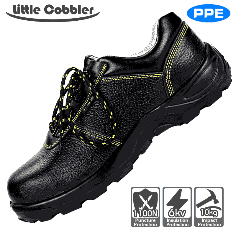Safety Work Women Shoes Steel Toe Leather Boots Breathable Puncture Proof Labor Insurance Shoes Rubber Sole Round Toe Lace Up france tigergrip waterproof work safety shoes woman and man soft sole rubber kitchen sea food shop non slip chef shoes cover