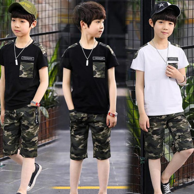 2018 Baby Boys Girls Clothes Summer Kids Set Fashion Short Sleeve T-shirts + Pants Baby Girls Clothing Set Kids Boys Clothes Set hot sale 2016 kids boys girls summer tops baby t shirts fashion leaf print sleeveless kniting tee baby clothes children t shirt