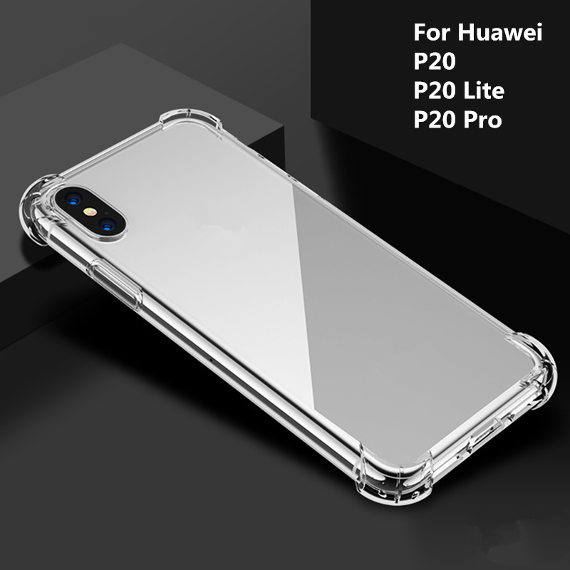 Shockproof 360 Degree Protective case for Huawei P20 lite p20 Pro Case Clear TPU soft case for Huawei P20 Pro p20 Case glass