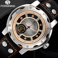 2016FORSINING Luxury Sport Watches Men Fashion Casual Skeleton Mechanical Automatic Leather Wristwatches Relogio Masculino
