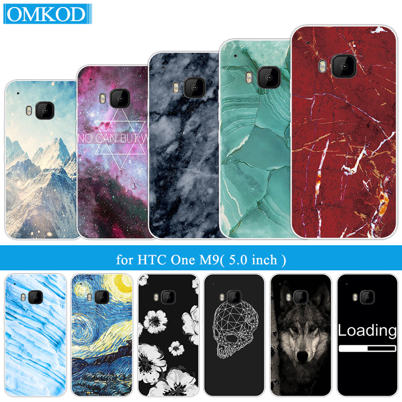 Silicone Cover for HTC One M9 Mobile Marble Phone Case Soft TPU Shell 5.0 inch for HTC M9 Case for HTC one M 9 UltraThin Cover tote bags for work