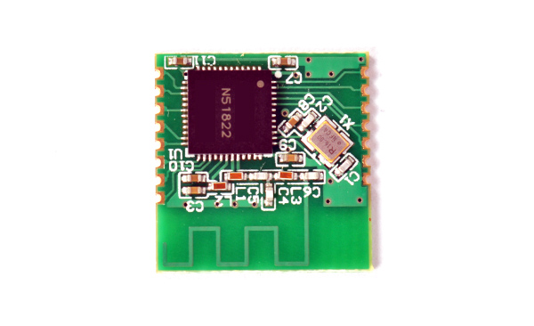 Free shipping 1pc nordic nRF51822 Bluetooth 4 0 module TTL serial  transmission iBeacon UART with AT instruction