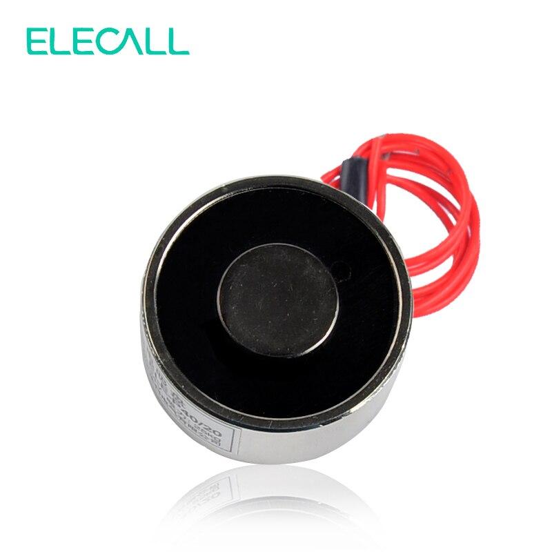 цена на New DC 12V 25kg Electromagnet Electric Lifting Magnet Solenoid Lift Holding ELE-P40/20