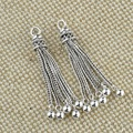 New Arrival 925 Sterling Silver Tassel DYI Muslim/Arab Prayer Beads Drop Pendant For Jewelry Making Silver Accessories