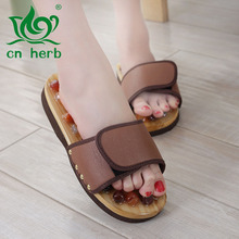 Cn Herb Cobblestone Point Health Care Foot Massage Shoes, Summer Lovers Agate Home Slippers