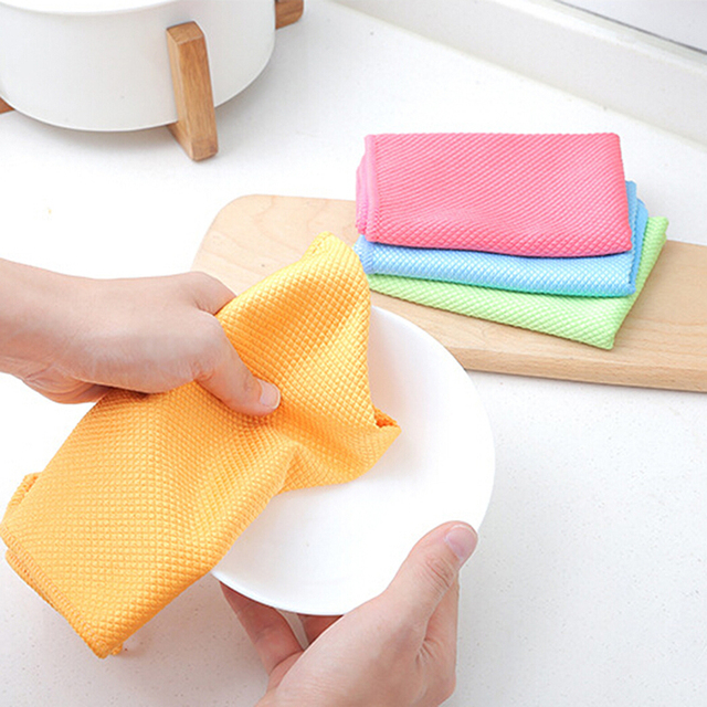 Us 1 25 33 Off 3pcs Pack Dish Rags Cloths Kitchen Washcloths Microfiber Glass Cleaning Cloths Lint Free Streak Free Clean Windows In Cleaning Cloths