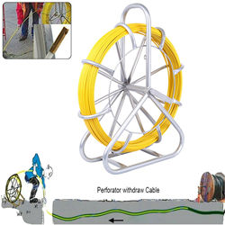 Yonntech 6mm 130 Faser Glas Draht Kabel Schlange Laufende Stange Duct Rodder Pull Elektriker