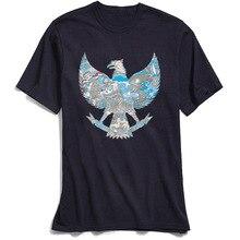 Indonesia Garuda T-shirt Men Black Tshirt 100% Cotton T Shirts for Boys Short Sleeve Fashion Day Crewneck Simple Style Tops Tees