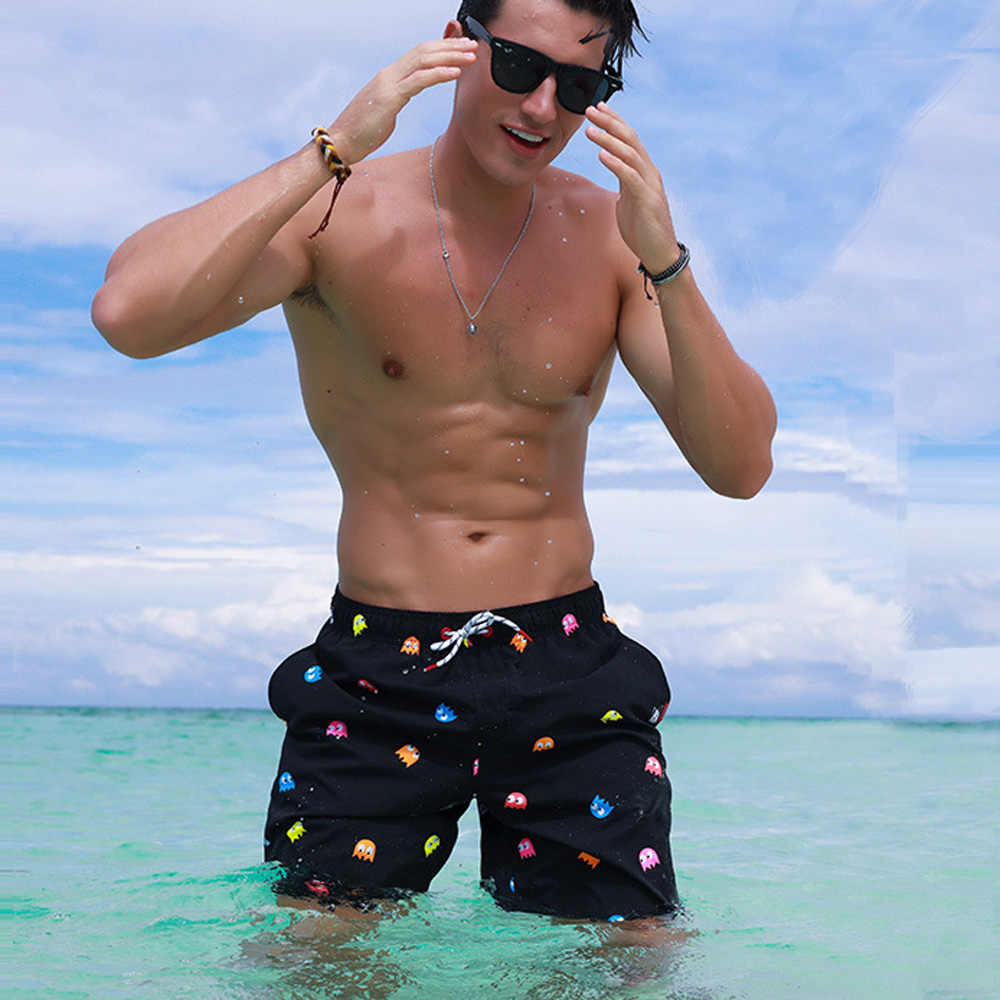 2018 Cartoon swimwear men shorts Breathable man swimming short Quick dry swimsuit summer beachshorts hot sale swim men briefs