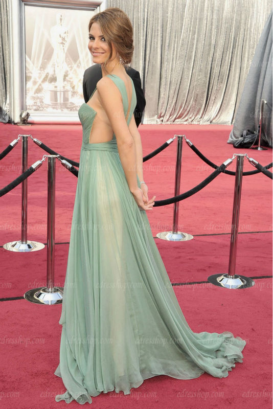 Straps Oscar Light Green Nud Lining Chiffon Celebrity Evening Dress In Dresses From Weddings Events On Aliexpress Alibaba Group