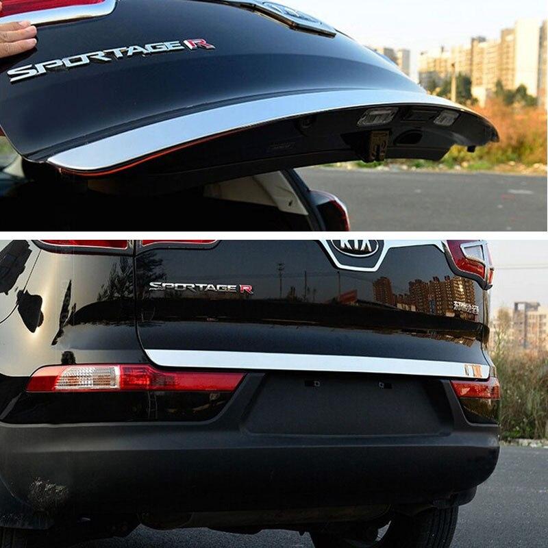 Chrome Rear Trunk Lip Spoiler 1p For 11 12 13 Kia Sportage