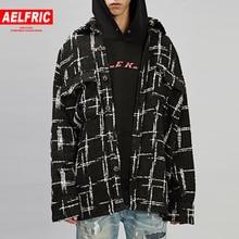 9aebd23adb2dc AELFRIC 2018 nueva moda de los hombres táctico Windbreaker chaqueta a  cuadros estilo Streetwear chaquetas abrigos Hip Hop Vintag.
