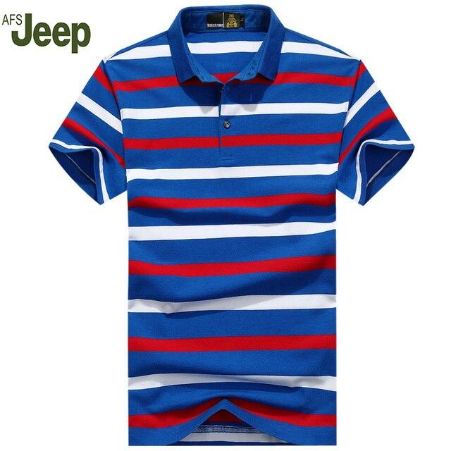 Мужчины Рубашки Поло Дышащий Полосатый Рубашки Поло мужская Марка Лето Одежда Big Size M-3XL Хлопок Рубашки Поло Мужчины 50