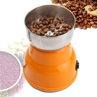 220V Mini Electric Grinding Milling Machine Semi Automatic Coffee Bean Grinder For Home Kitchen Coffee Maker