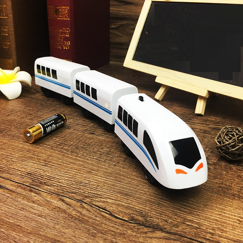 FARFEJI Electric Train Toys Thomas Wooden Track Toys For Kids Thomas Wooden Car Toy For Children