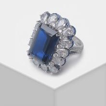 Local focal Exquisite rectangular drop design fashion flash ring