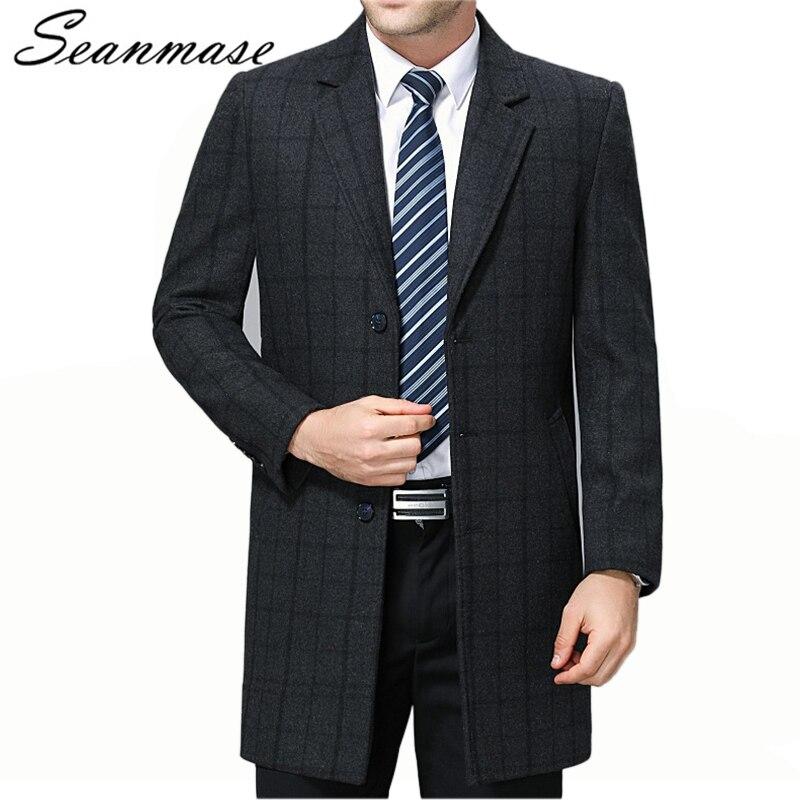 SELECTED Men s Wool blend Lapel Coat S 418427554