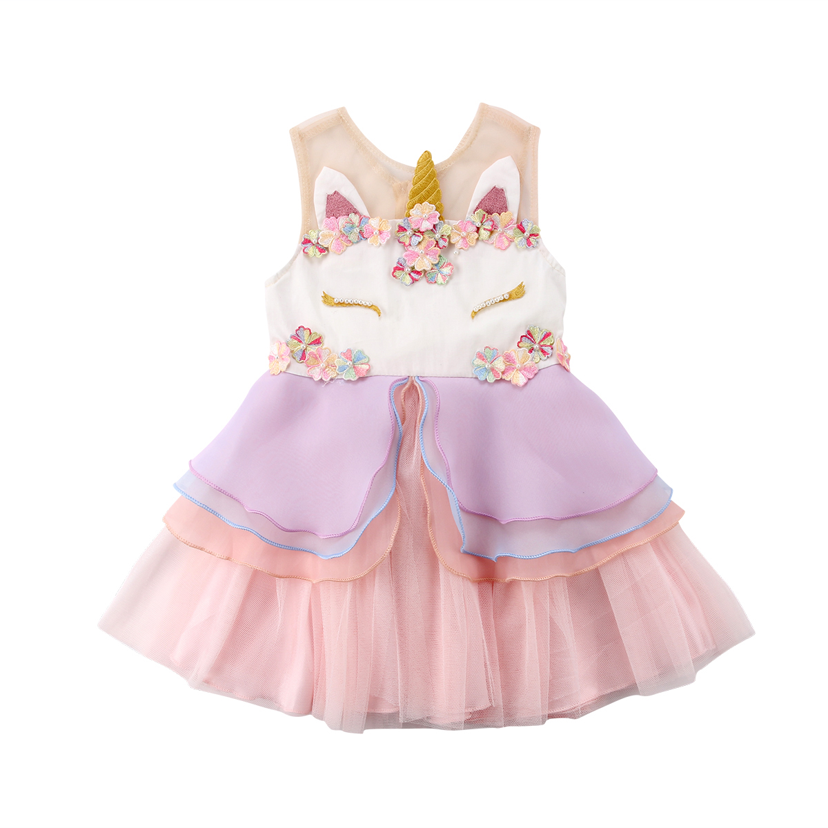Fancy Chiffon Kids Girls Clothing Dresses Gown Tutu Ruffles Tiered Party Formal Tulle Flower Dress Girl 0-6T toddler autumn dress kids girls clothing dress jeans denim short sleeve ruffles tiered patchwork tutu mini dresses girl 2 7t