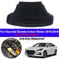 Автомобильные задние сапоги  поднос для грузового лайнера  Ковровые Коврики для багажника  Ковровые Коврики  коврик для Hyundai Sonata 2015 2016 2017 2018 ...