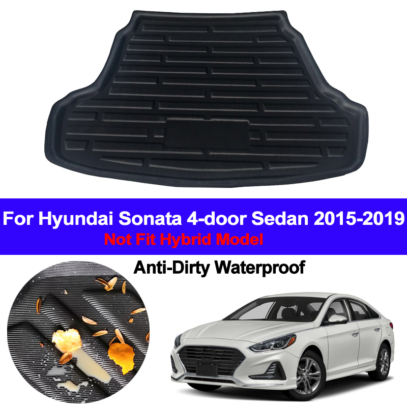 Car Rear Boot Cargo Liner Tray Trunk Floor Carpet Mats Carpets Pad Anti-dirty For Hyundai Sonata 2015 2016 2017 2018 2019 Sedan