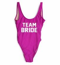 TEAM Bride Swimwear one piece swimsuit Bathing Suit Women Hot Monokini Custom Letter Biquini Swimsuits Jumpsuits Swim Suit