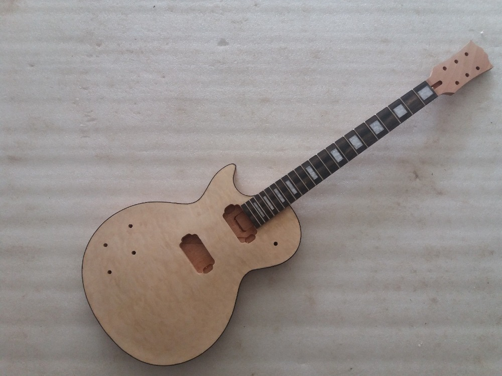 Unfinished left hand Electric Guitar Body with neck for LP style