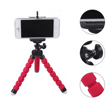 Mini Flexible Tripod for Mobile Phone Sponge Metal ripod for DSLR Camera Xiaomi