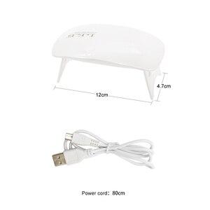 Image 5 - LKE 12 واط مسمار مجفف LED UV مصباح المصغّر USB جل الورنيش علاج آلة للاستخدام المنزلي مسمار أدوات الرسم مصابيح لمسمار