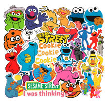50PCS/Lot American Sesame Street Stickers for Car Styling Bike Motorcycle Phone Laptop Travel Luggage Cool Funny DIY TOY Sticker(China)