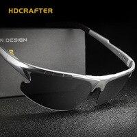 משקפי שמש מגנזיום אלומיניום ספורט מקוטב משקפי שמש שחור ציפוי אביזרי משקפי שמש נהיגה משקפיים שמש ספורט מותג