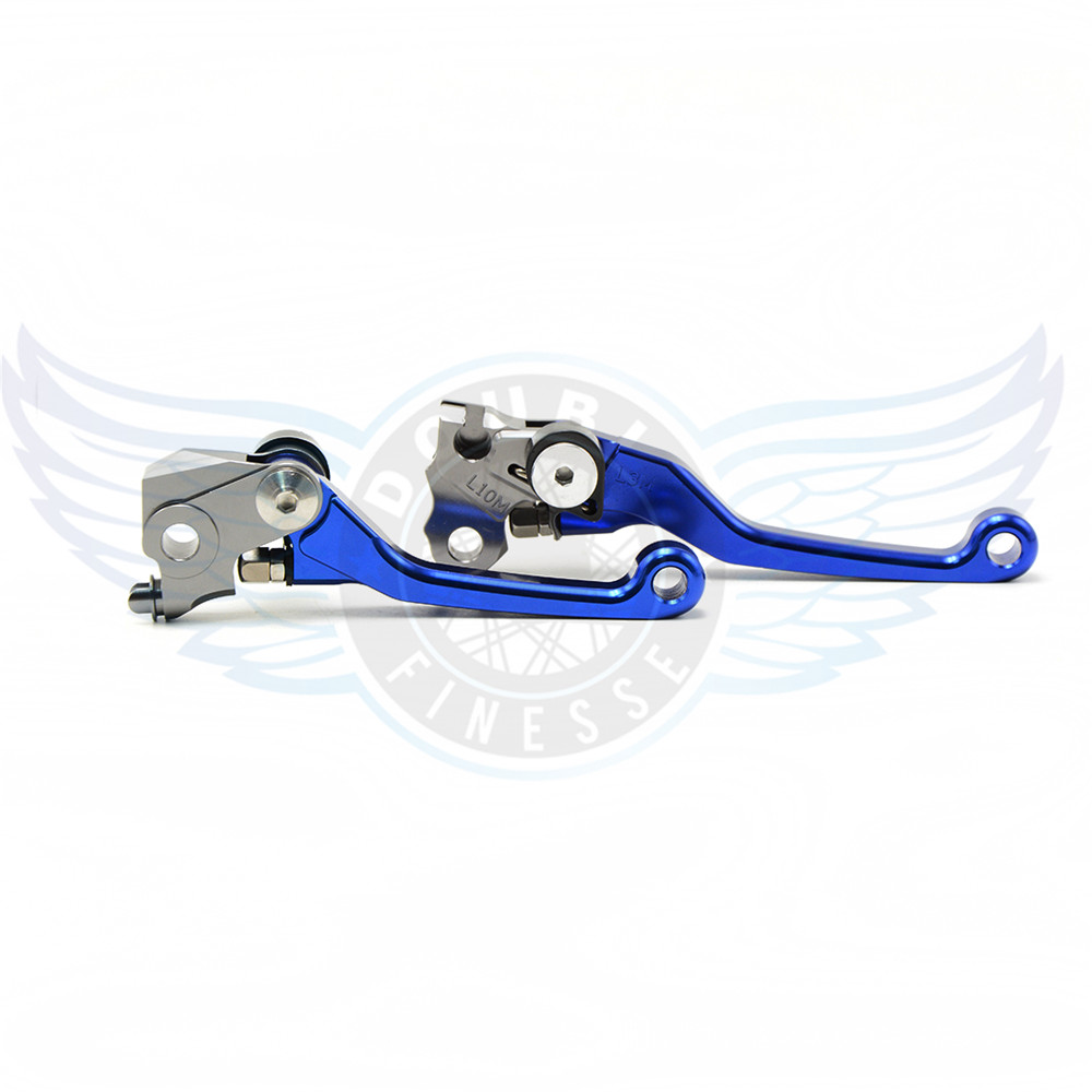 ФОТО levers brake clutch motorcycle accessories folding Pivot Levers Brake Clutch cnc blue color For Yamaha YZ426F/450F 2008