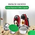 Металлическая капсула ICafilas Dolci Gusto из нержавеющей стали  совместимая с кофемашиной dolce&gusto  пополняемая многоразовая капсула