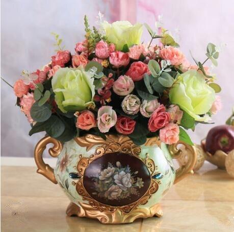 Europese stijl bloem decoratie, bloem kamer, valse bloem, potplanten, bloemstuk. - 2