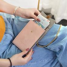 2019 New Ladies Skew Mobile Bag Student Simple Multi-function Mini Single Shoulder Small Change Wallet Handbag