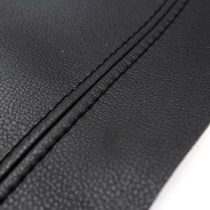 Image 3 - Manija de puerta Interior de cuero de microfibra para coche, apoyabrazos, cubierta protectora embellecedora para Peugeot 408 2010 2011 2012 2013